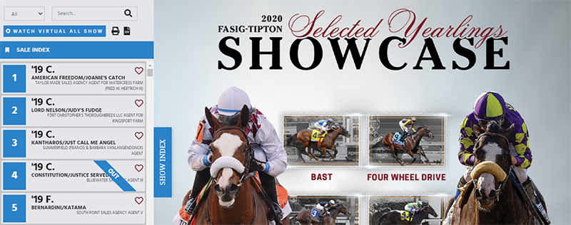 fasig tipton selected yearlings showcase
