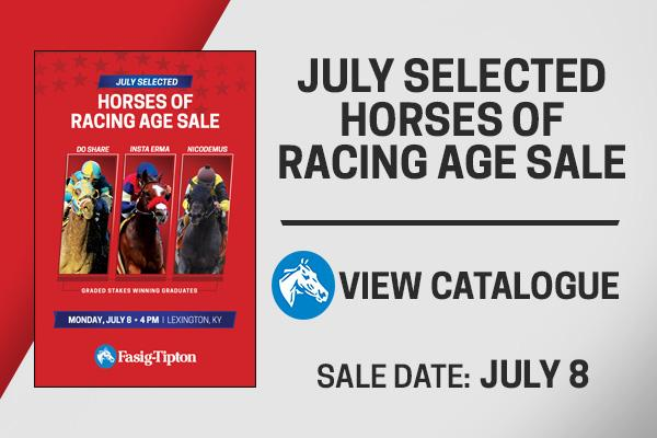 fasig-tipton july selected horses of racing age sale